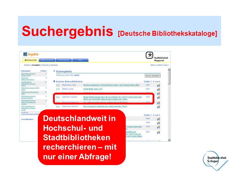 Suchergebnis [Deutsche Bibliothekskataloge]